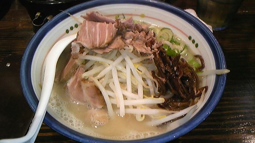 麺の坊 砦@渋谷 肉もやし